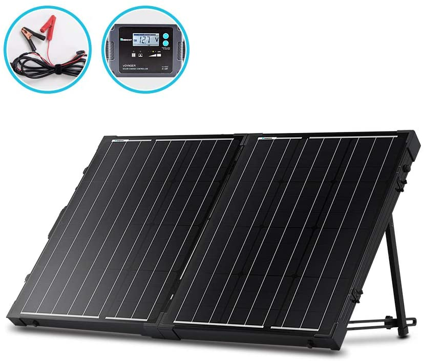 Amazon Com Renogy 100 Watt 12 Volt Monocrystalline Off Grid Portable Foldable 2pcs 50w Solar Panel In 2020 Solar Panel Charger Portable Solar Panels Rv Solar Panels