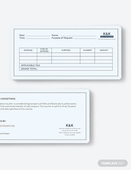 Office Expense Voucher Template - Word | PSD | Apple Pages ...