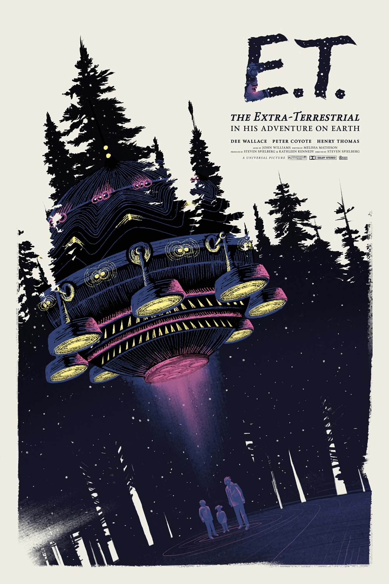 Movie poster PRINT E.T Dee Wallace Alternative Movie Poster Print Steven Spielberg The Extra-terrestrial Henry Thomas