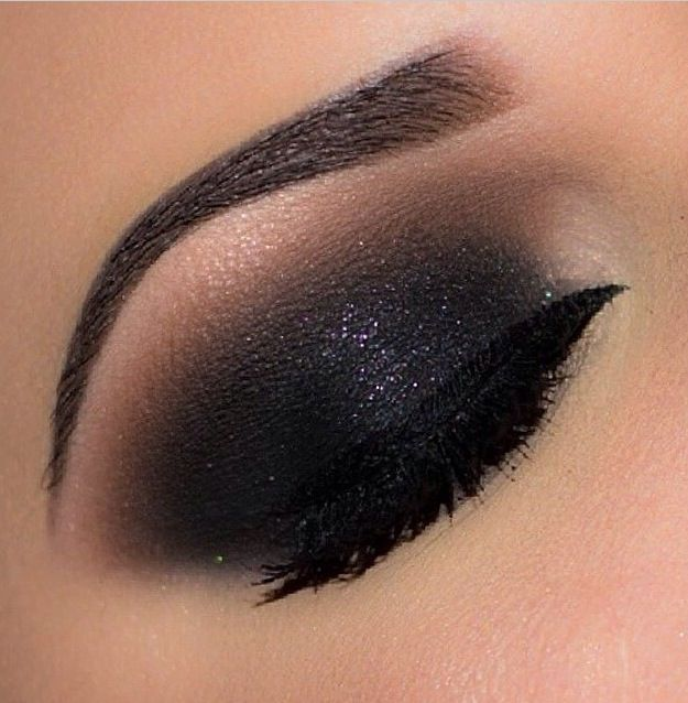 Dark Shadow with Touch of Glitter