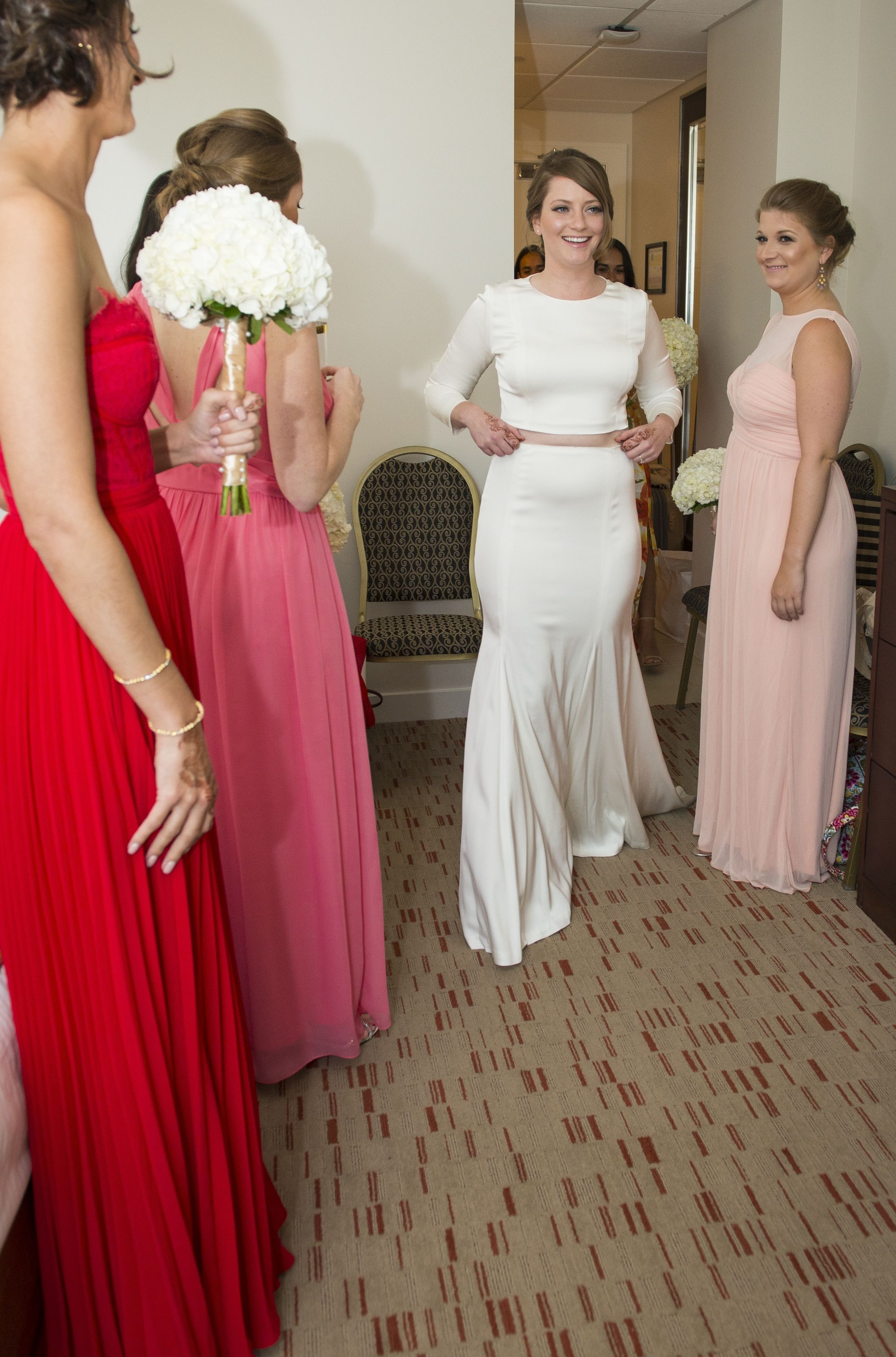 Michelle O'Malley custom two piece wedding dress