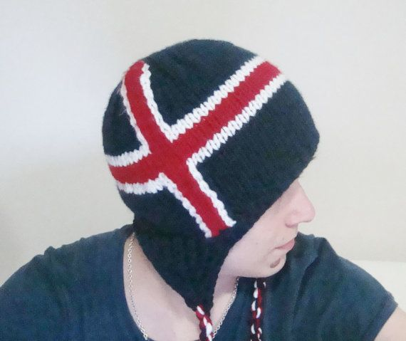 c4c5c6f1 Iceland Flag Hat for Mens Hat with earflap in Blue by earflaphats ...
