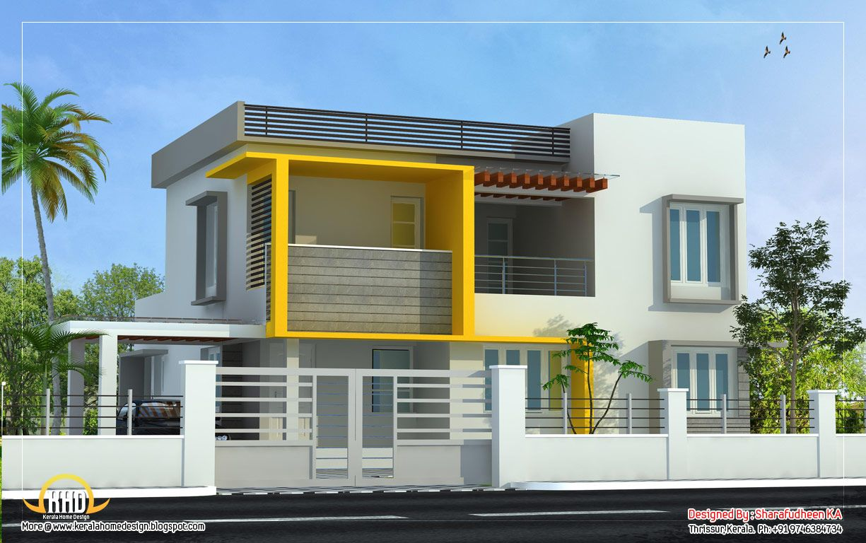 Modern Home Design 2643 Sq Ft 246 Sq Ft 294 Square Yards 4 Bedrooms Http Www Keralahoused Kerala House Design Modern House Design House Design