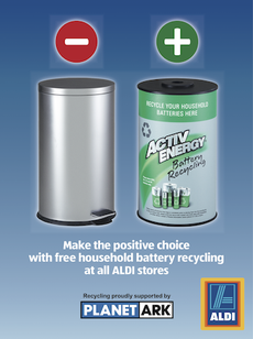 Recycle Your Batteries For Free At Aldi Rny News Aldi Recycling Household Batteries