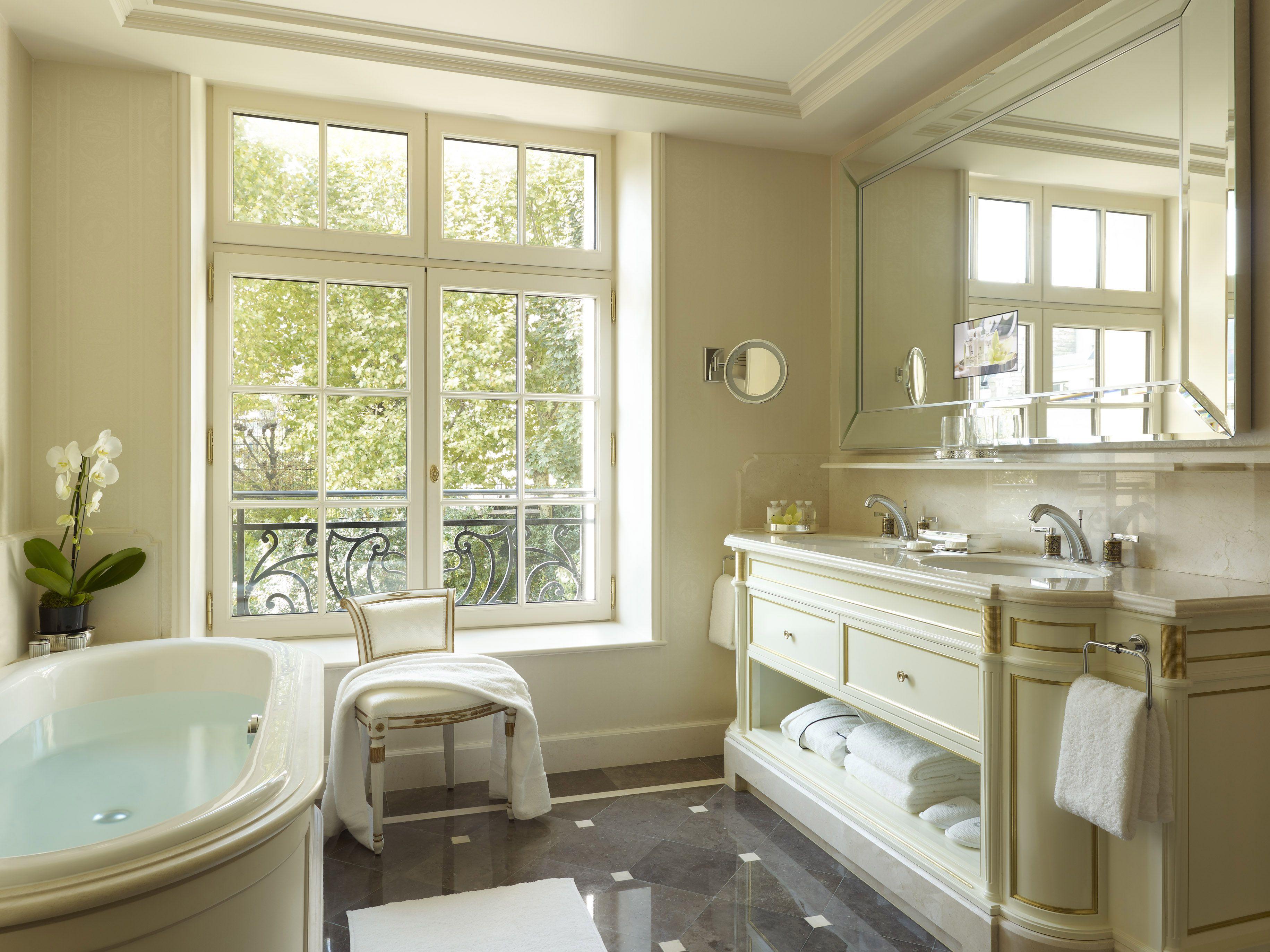 Why The Shangrila Is The Best Luxury Hotel In Paris  Shangri La Stunning Luxury Hotel Bathroom Review