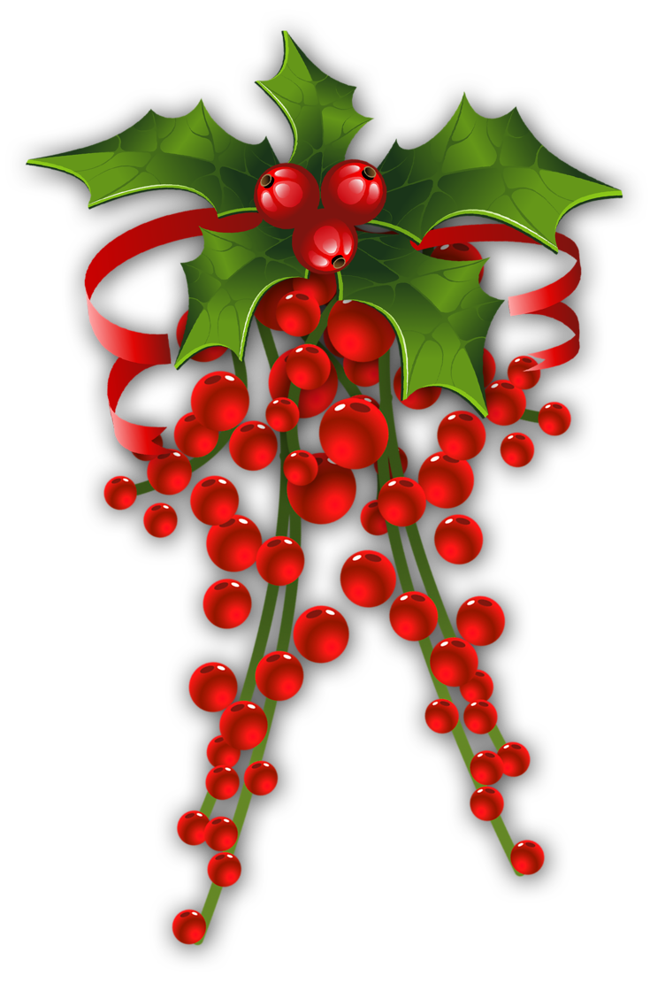Christmas holly clip art christmas 3 clipart for Holl image