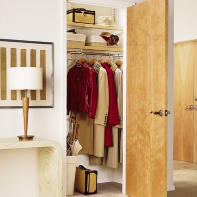 The Container Store Closet Systems Elfa Closet Systembirch  White Entry Closetthe Container Store