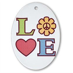 #Artsmith Inc             #Everything ElseCollectibles                        #Ornament #(Oval) #LOVE #with #Sunflower #Peace #Symbol #Heart                Ornament (Oval) LOVE with Sunflower Peace Symbol and Heart                                              http://www.snaproduct.com/product.aspx?PID=7051025