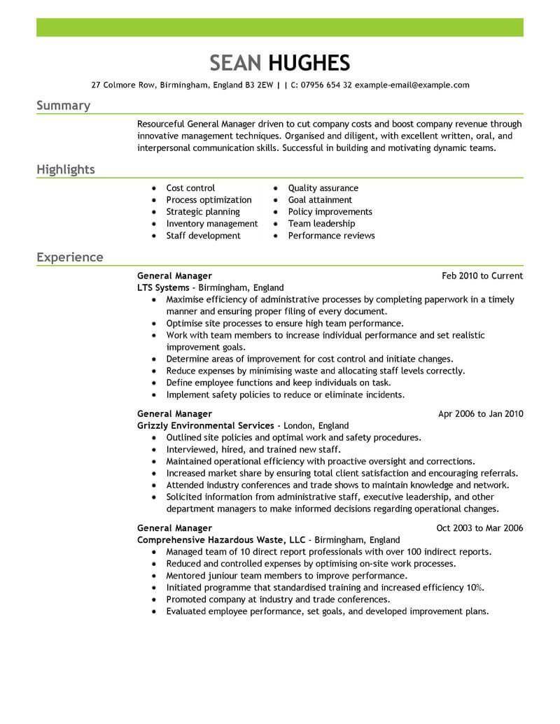 Summary Of Skills Resume Sample Resume Examples General  Resume Examples  Pinterest  Resume Examples
