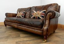 Club Style Couches Brown Buttoned Leather Antique Style English Chesterfield Sofa Couch Vintage Style Sofas Sofa Styling Leather Sofa