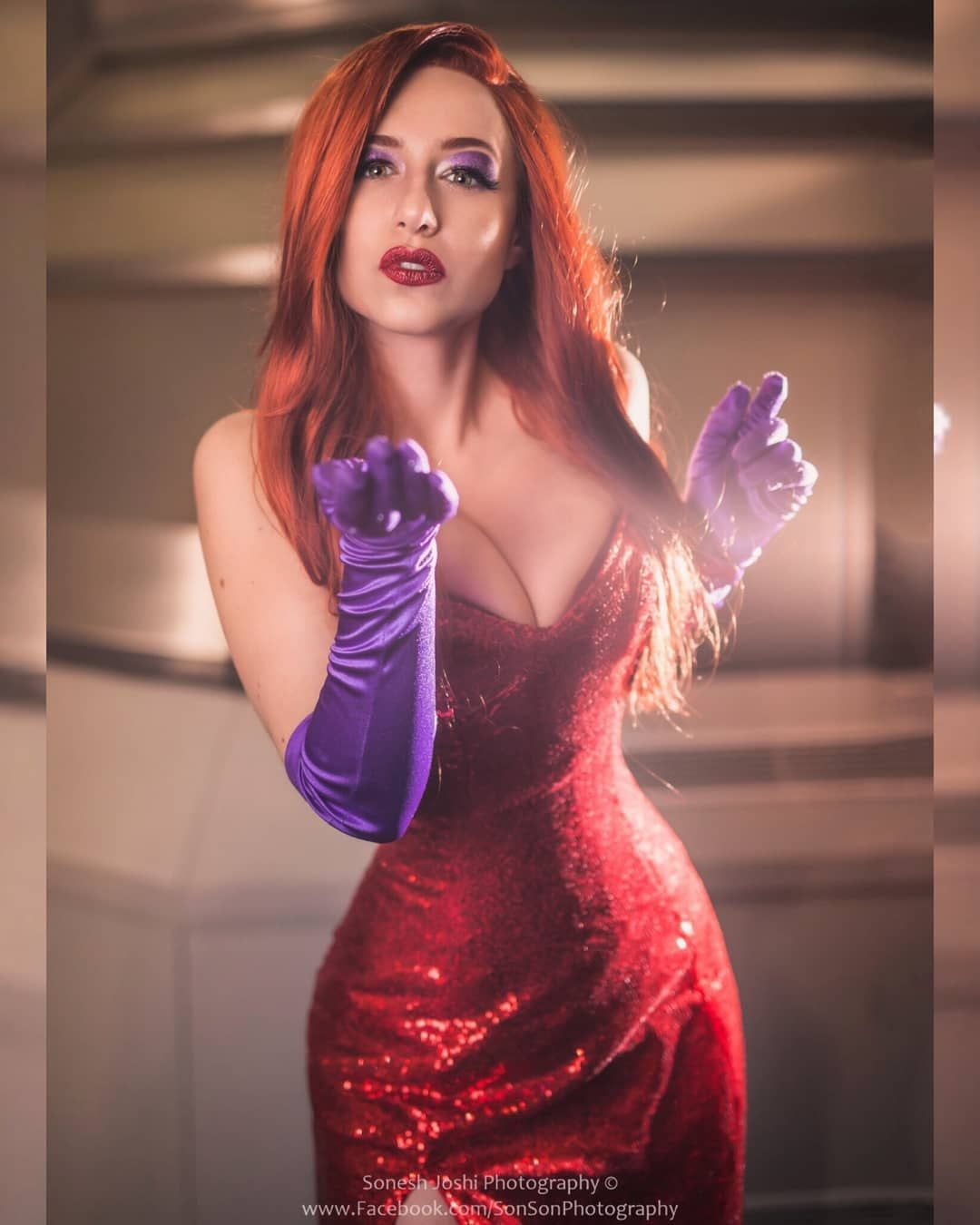Jessica Rabbit cosplay by cosimaudrey in 2020   Red formal
