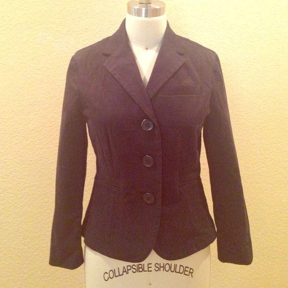 Black brushed cotton jacket