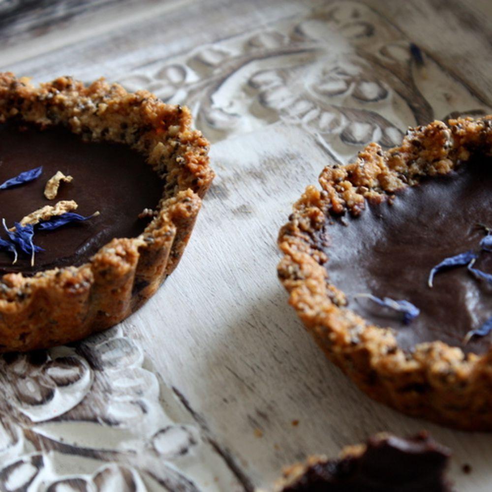 Vegan Chocolate & Rose Tarts recipe on Food52