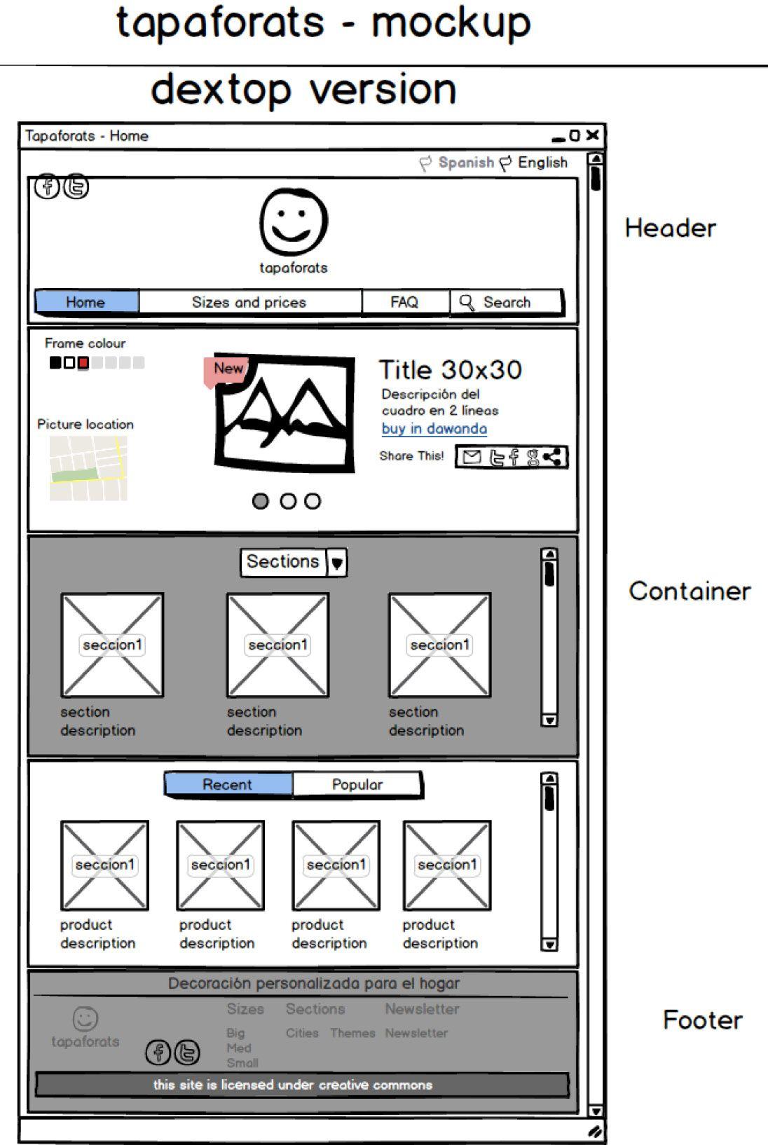 Balsamiq Wireframe Wireframe Website Design Ux User Experience