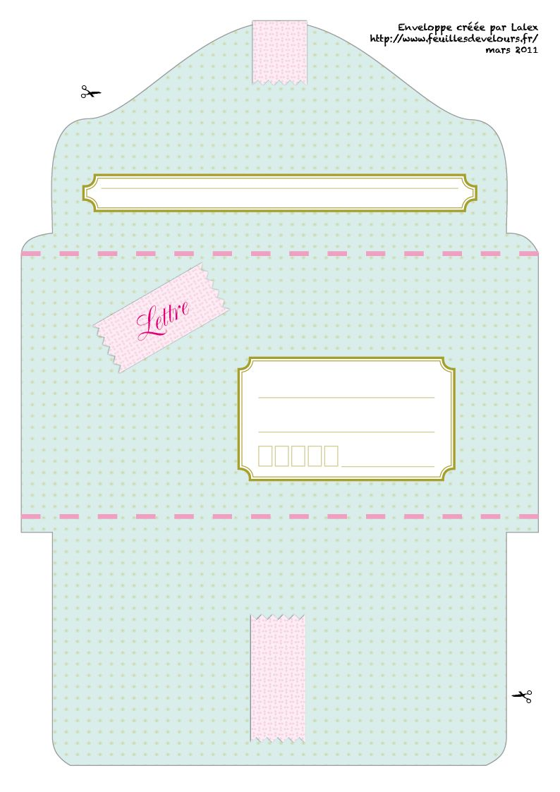 enveloppe imprimer pastel freebies diy envelopes