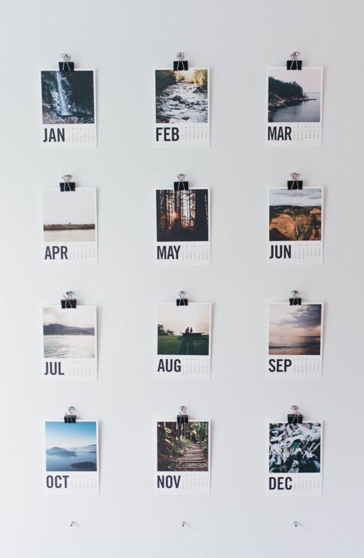 wandkalender selber machen wand dekorieren … | pinteres…, Wohnzimmer dekoo