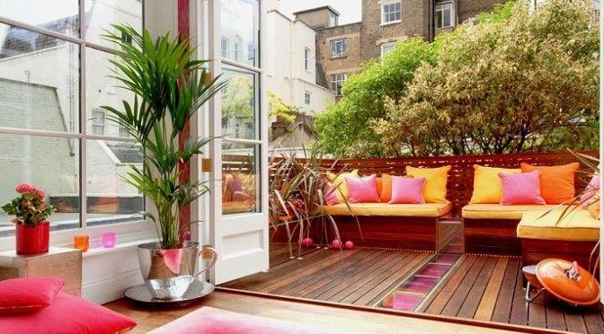 Como-decorar-terraza-672x372jpg (672×372) Bacony Pinterest - como decorar una terraza