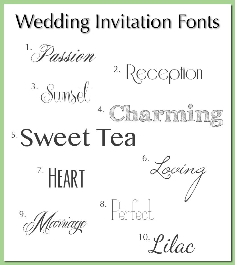 Best Fonts For Wedding Invitations: Wedding Invitation Fonts