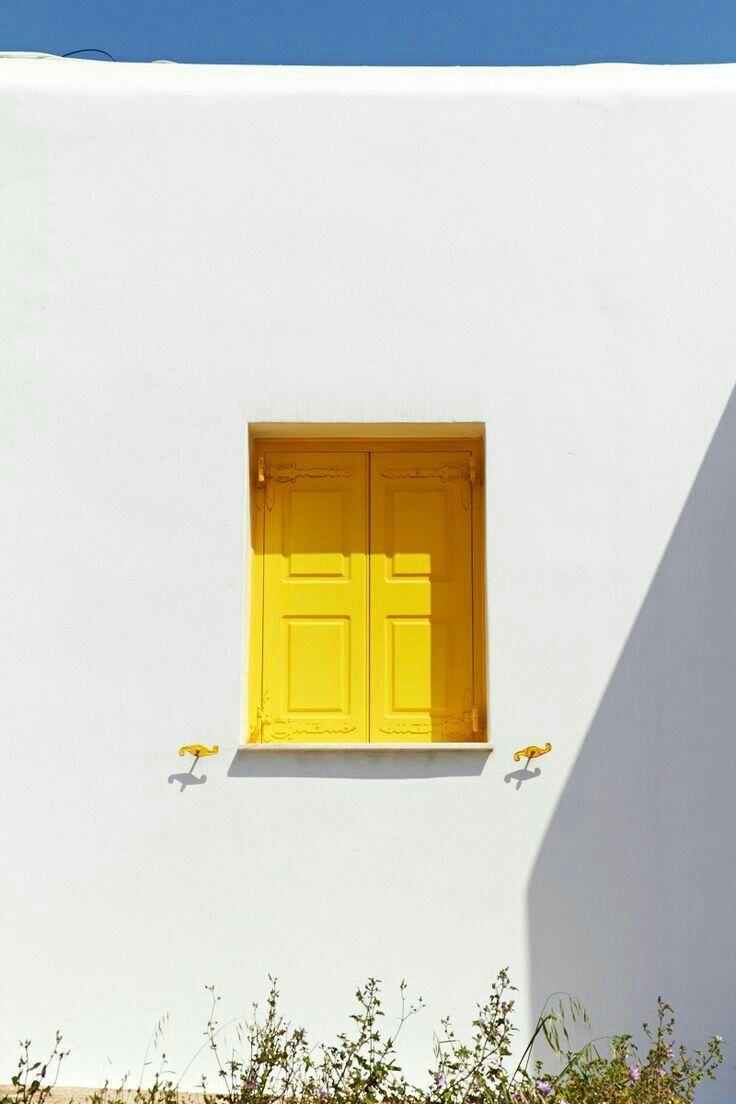 Yellow window shutters  Aesthetic bedroom, Yellow aesthetic