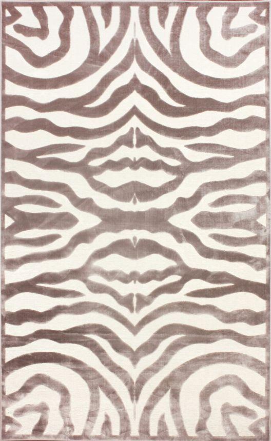 Velvet Zebra Print Cream Rug | Contemporary Rugs #RugsUSA