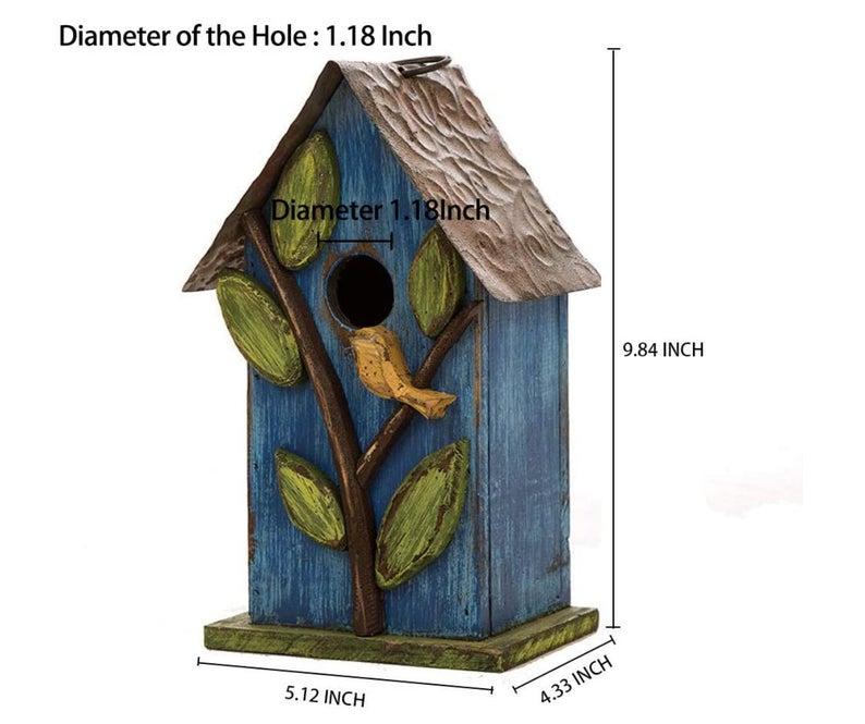 Wooden Birdhouse | Rustic Bird House | Yard Decor