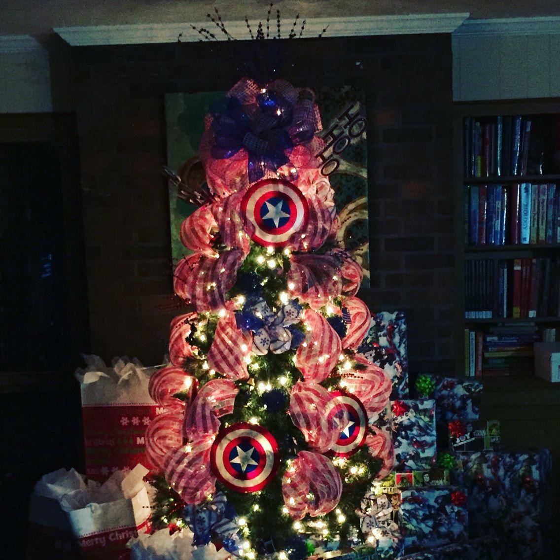 Lawyer christmas ornaments - Captain America Christmas Tree 2015
