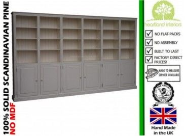 Solid Wood 7ft X 12ft Bookcase Display Unit With Doors Painting Bookcase Solid Wood Furniture Solid Wood