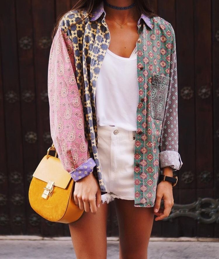 b0bd33c0558af1 die paarse blouse combineren met een andere stof blouse