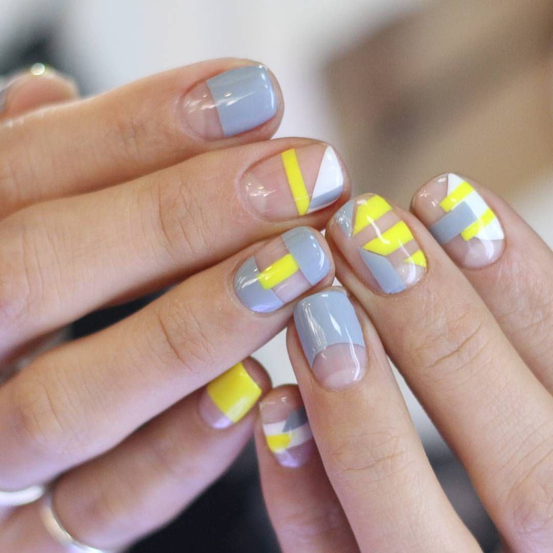 minimalist nail art | negative space nail art design ideas | Nail ...