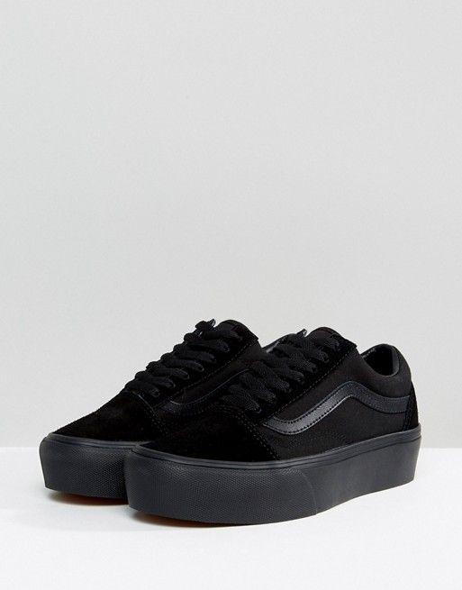 platform vans black