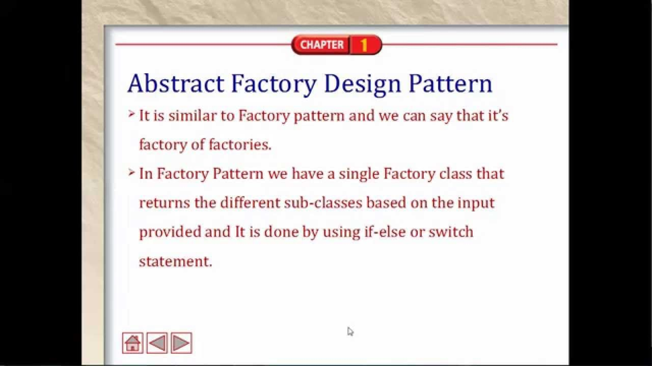 Abstract Factory Pattern Java Design Pattern Day5 Http Youtu Be 6ceybhwfl7c Switch Statement Pattern Design