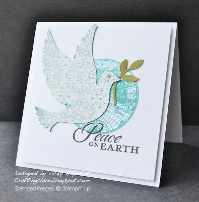 This is what happens when you get Stampin' Up's Calm Christmas and The Open Sea out at the same time!