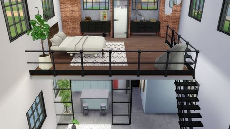 The Sims 4 Industrial Loft Speed Build