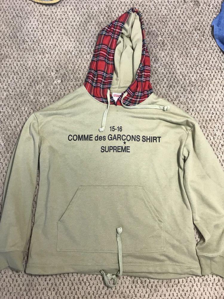 Supreme X Comme Des Garcons Plaid Olive Hoodie Commedesgarcons Hoodie Supreme Comme Des Garcons Shirt Supreme Comme Des Garcons Box Logo Supreme Comme Des G