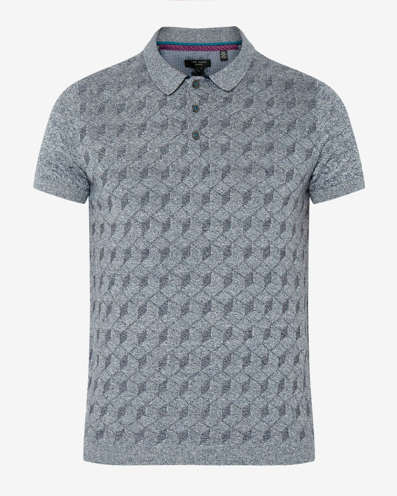 865cc7f5e90 Gucci Monogrammed Polo Shirt in Gray for Men (grey)