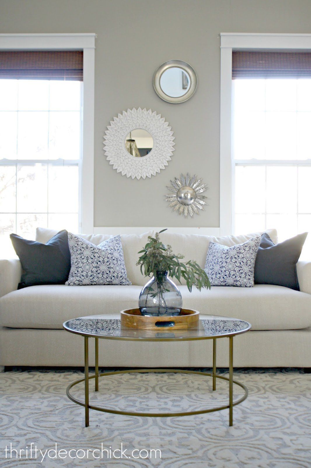 Round Coffee Table Decor Ideas Best Of When In Doubt Add Some Circles From Thrifty De In 2020 Table Decor Living Room Round Coffee Table Decor Glass Coffee Table Decor