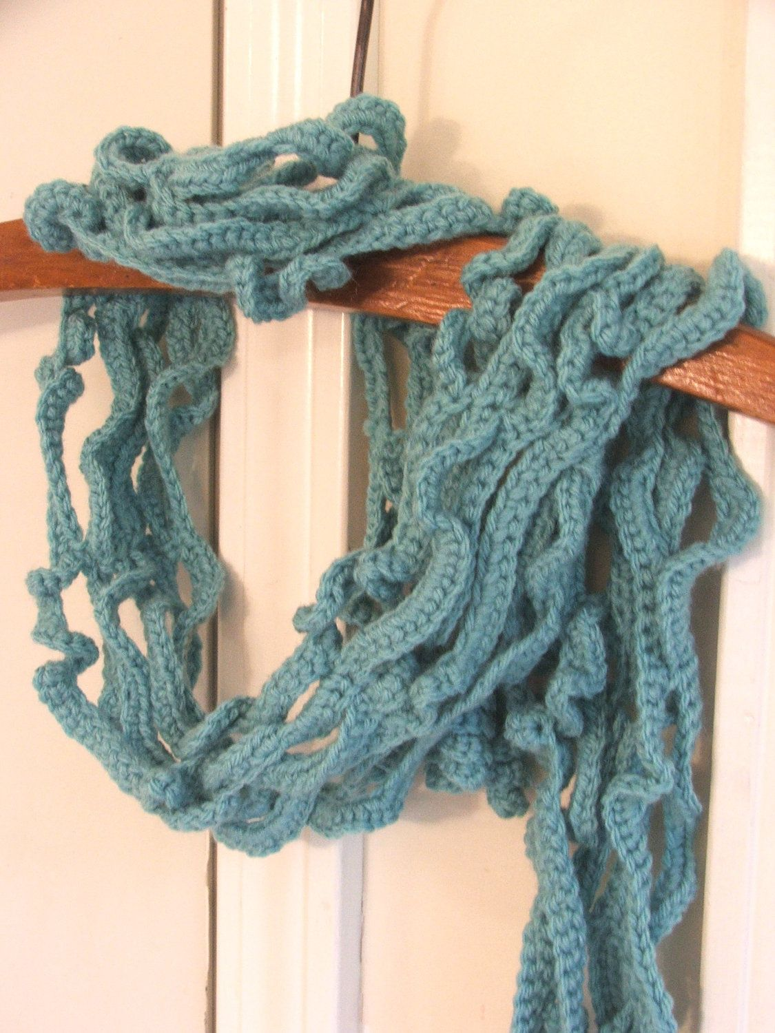 New Crochet Scarf Pattern Instant Download Of Curly Vines Crochet
