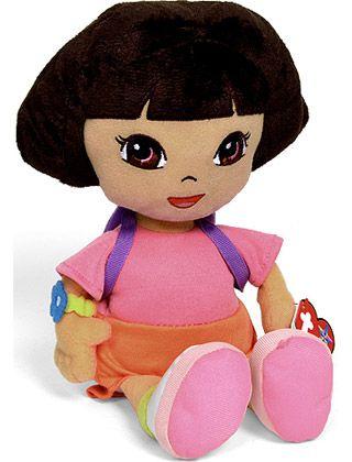 Dora The Explorer Beanie Soft Toy - TY Ty Beanie Boos e3a072915f2d