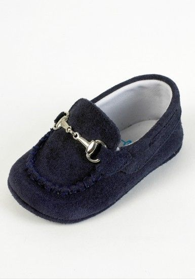 fd3d3df64c6 Tinny boys navy blue suede pram loafer