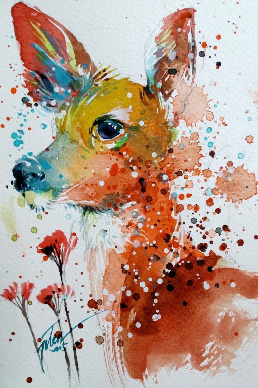Arte Visual La Pintura Tilen Ti Hermosuras Watercolor Paintings Of Animals