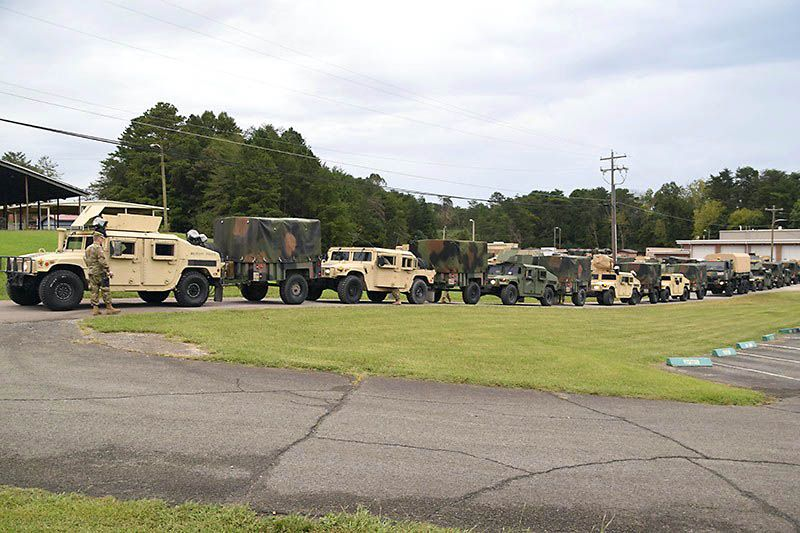 Tennessee national guard sends military police company to