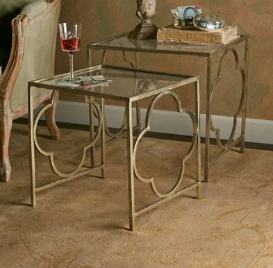 Nice Quatrefoil Nesting Tables