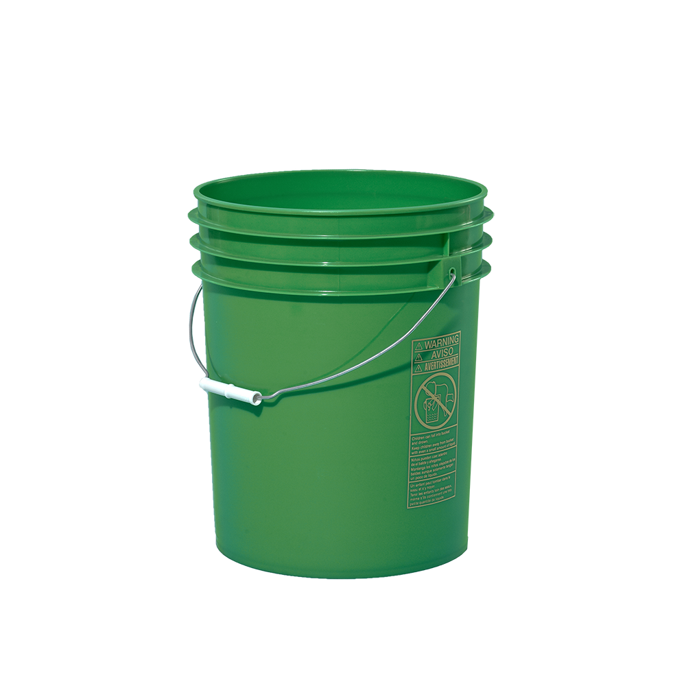 Illing Part 3ec3052gn 5 Gallon Green Plastic Round Open Head Pail W Metal Bail Fda Approved Un Rated Open Head Plastic Pails Are Plastic Pail Pail Gallon