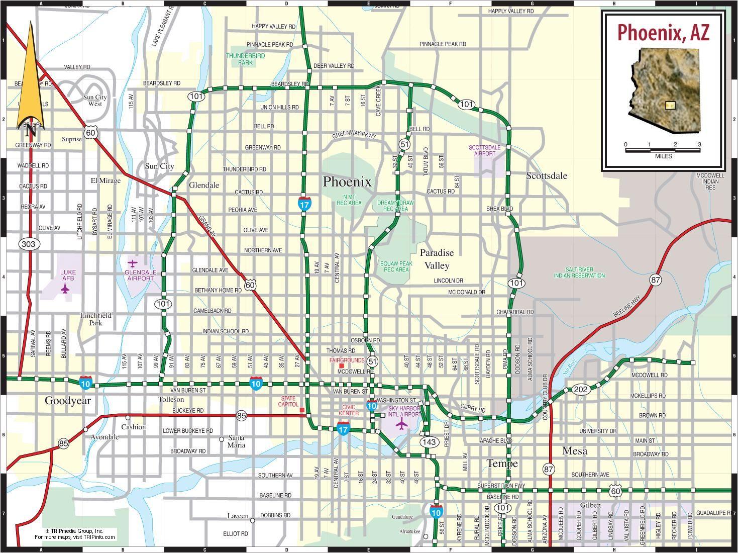 usa map phoenix arizona Map Phoenix Arizona Map Phoenix Az Arizona Usa Paesaggi usa map phoenix arizona