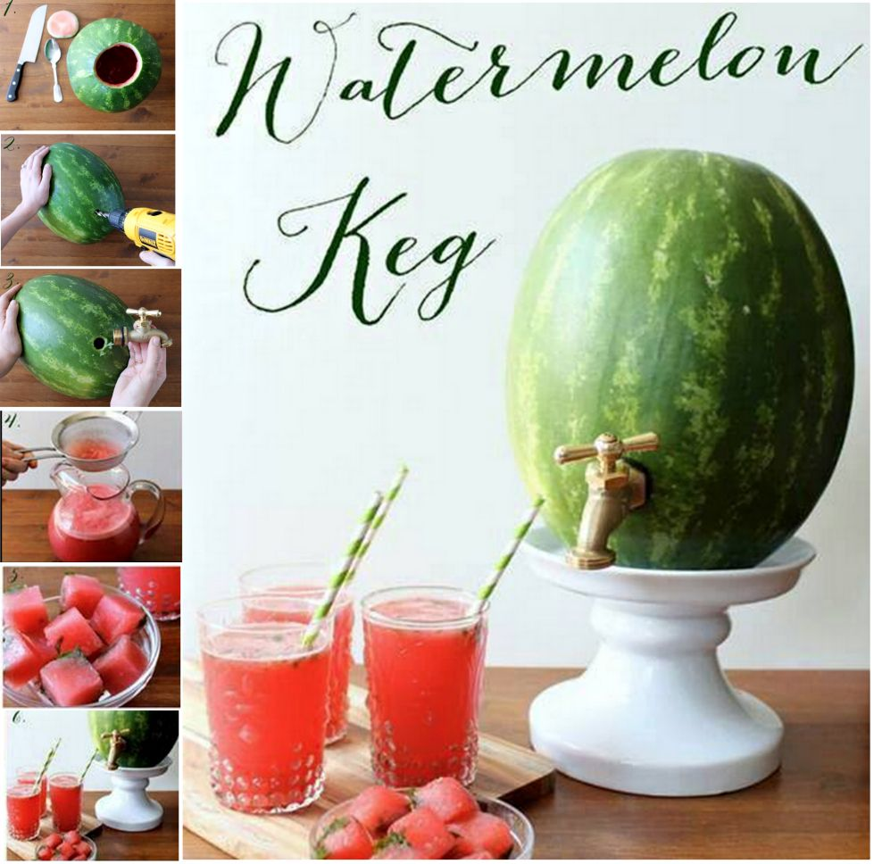 Watermelon keg cutefun food pinterest watermelon keg fun