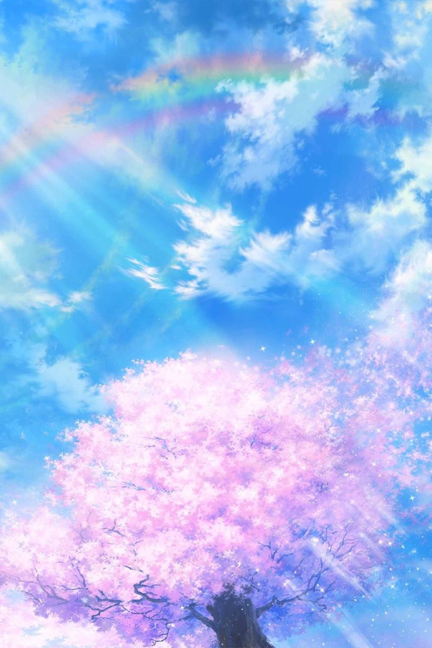 Anime scenery. Wish my life Good be so colourful like this