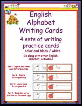 english alphabet letter writing cards 495