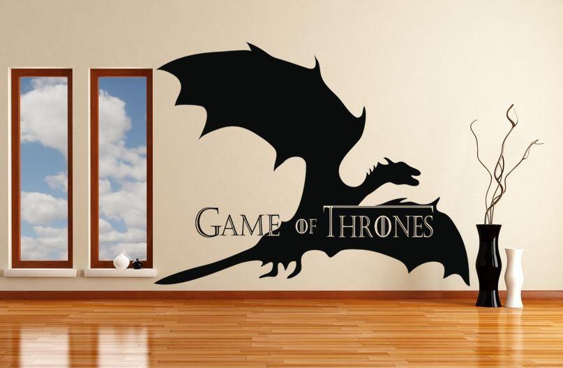 """¡Hola amigos! Hoy queremos mostraros algunos diseños de la famosa serie """"Juego de Tronos"""". En VinilosDecorativos.com encontraras muchos. ¡Disfruta de un ambiente original y con personalidad!  ¡Te esperamos! https://www.vinilosdecorativos.com/vinilos-decorativos-juveniles/dragon-de-juego-de-tronos.html"""
