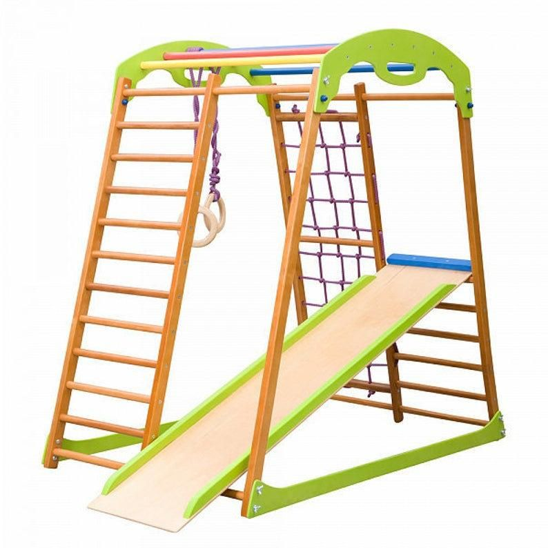 Foldable Indoor Wooden Playground for Kids