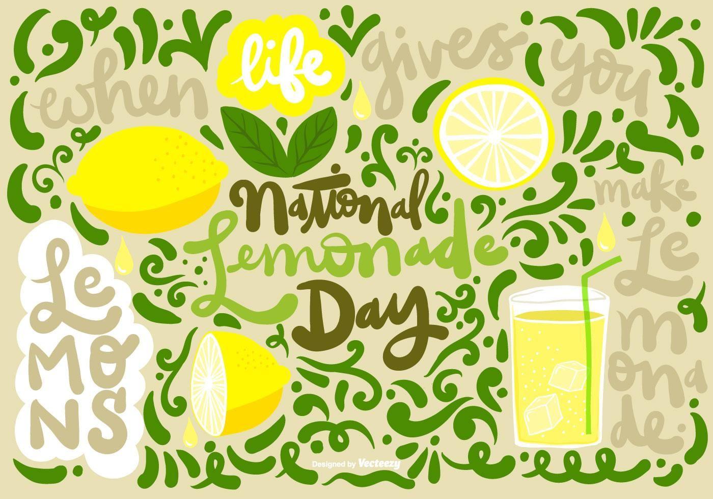 Nacional de limonada día vector   Logotipo de jugo ...